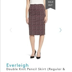 Anthropologie Everleigh Double Knit Pencil Skirt